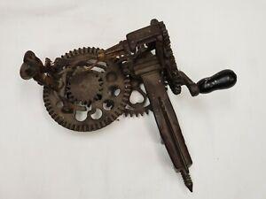 Vintage Sinclair Scott Co. Baltimore Apple Peeler Cast Iron Gears Display