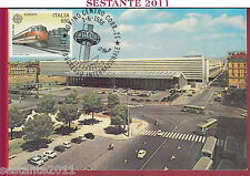 ITALIA MAXIMUM MAXI CARD 1988 TELETRAFFICO STAZIONE TERMINI ETR 450 CEPT B10