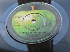 THE BEATLES  ORIG  1969  UK  45  THE BALLAD OF JOHN AND YOKO     PUSH OUT CENTRE