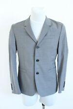 COS grey check formal button-up wool men suit blazer jacket size 46 EU S