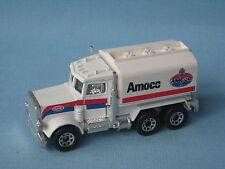Matchbox Peterbilt Gas Petrol Tanker Truck Amoco White UB