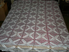 #169 Beautiful Vintage Handmade Coverlet