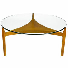 Mid-Century Modern Sven Ellekaer Danish Floating Glass Coffee Table RARE