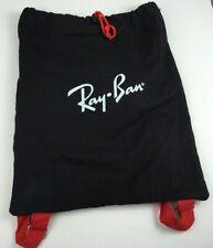 Ray-Ban RAY BAN Black Cotton Drawstring Bag Gym Backpack