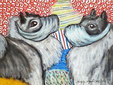 Quarantine Keeshond Art Giclee Print 5x7 Dog Collectible Signed by Artist Ksams