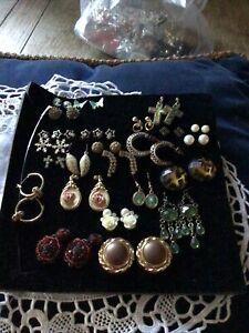 Bundle Of Costume Earrings Stud, Hoops, Drop