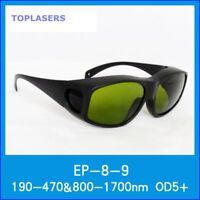 CE Safety Glasses & Goggles for 190nm-470nm & 800nm-1700nm Laser Protection OD5+