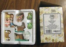 """Precious Moments 1997 """"Kids on a Stump"""" Mini Tea Set 312711 Mint New in Box!"""
