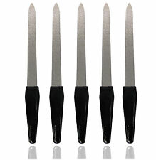 5 x METAL DOUBLE SIDED NAIL FILE FILES STRONG EDGE NEW BRAND NEW UK SELLER