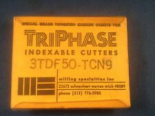 NIB TriPhase Carbide Indexable Cutters 3DTF50-TCN9 5-Pack