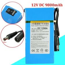 DC-1298A DC 12V 9800mAh Rechargeable Portable Li-ion Battery For CCTV USA