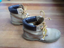 Timberland Work Boots Shoes Kids Size 2M Classic Leather Oil Resistant Boy Girl