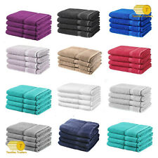 Pack of 2,4,8 or 24 Luxury Bath Sheets 100% Cotton Bathroom Shower Towel Sheets