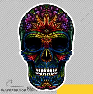 Colourful Sugar Skull Vinyl Sticker Decal Window Car Van Bike 2893