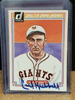 Carl Hubbell (d.1988) AUTOGRAPHED 1983 Donruss Hall of Fame Heroes card