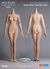 1/6 Scale Hot Stuff, Phicen Female Body Small Bust Body Pale Skin S-02 Ver.3.0