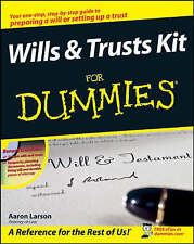 Wills and Trusts Kit For Dummies by Larson, Aaron (Paperback book, 2008)