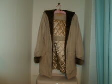 NEW SIZE 12 DAVID BARRIE  BEIGE PADDED HOODED WARM COAT