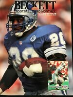 1992 July Beckett Football Monthly Magazine #28: Barry Sanders - Detroit Lions