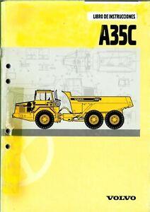 Libro Instruciones Manual Operador Volvo A35C (copia 174 paginas) 3314315056