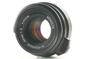 【Excellent+++】 Minolta M Rokkor 40mm f2 Lens For CLE CL Leica M Mount From Japan