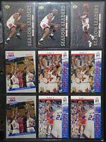 Michael Jordan Pack of 9 NBA Cards - Various Upper Deck