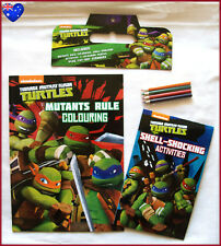TMNT TEENAGE MUTANT NINJA TURTLES Colouring & Activity BOOK Pack - Colour In NEW
