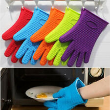 1pc Super Heat Resistant Silicone Glove Oven Mitt Pot Holder Bbq Cooking Kitchen