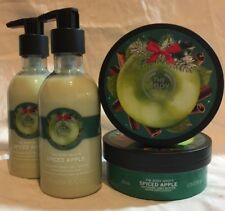 The Body Shop Spiced Apple Body Butter & Lotion 4 Piece Set Limited Edition New!
