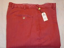 Peter Millar Raleigh Washed Twill Pima Cotton Khaki Pants NWT $125 38 x 36 Red