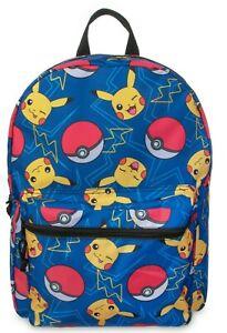 New Pikachu Pokémon Pokeball Backpack