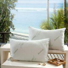 Bamboo Shredded Memory Foam Pillow Hypoallergenic Cover Neck Sleep Support 1pc