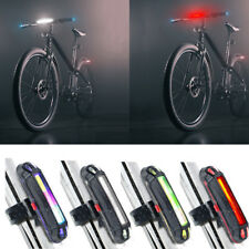Bike Bicycle Cycling USB Rechargeable Warning Light Front Rear LED Tail Lamp SPE