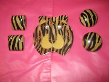 STYLISH JAGUAR JEWELRY COLLECTION  BROOCH TWO PAIR PIERCED EARRINGS NWOT!