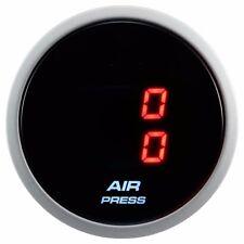 52mm Smoke Lens Digital Red LED dual air pressure gauge (BAR)