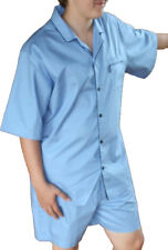 Mens Jockey Short Pyjama Nightwear Pajama Lounge Wear 50040 Sky Blue