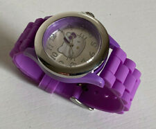 NEW! SANRIO HELLO KITTY PURPLE SILICONE RESIN STRAP WATCH HK2067 $40 SALE