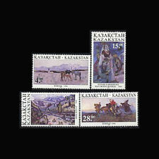 Kazakhstan, Sc #116-19, MNH, 1995, Paintings, horses, 6EDD