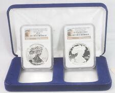 2012 S Ultra Cameo Reverse Silver Eagle $1 Bullion Coin Set