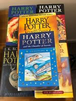 Harry Potter Book Bundle 5 X Hardback One Paper Back Some First Editions #1