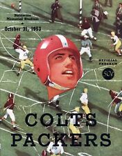 1953 BALTIMORE COLTS VS GREEN BAY PACKERS PROGRAM PHOTO 8 x10