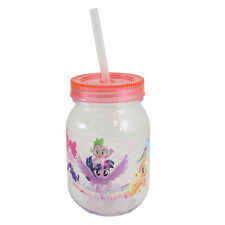 Children's Character Plastic Mason Jar with Lid & Straw - My Little Pony