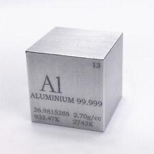 Aluminium Metall 25.4mm Würfel 99.999% Markiert Periodensystem Elementesammlung
