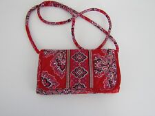 Vera Bradley Red Wallet On A String Paisley