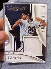 """JOHN SMOLTZ 2015 IMMACULATE """"PITCHERS"""" BRAVES GAME-USED JUMBO JERSEY PATCH /49!!"""