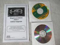 MEGATOUCH MAXX JADE 2 MANUAL + DISCS   arcade game part  c50a