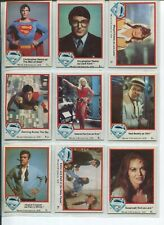 SUPERMAN MOVIE COMPLETE 77 CARD SET SERIES I - TOPPS/1978