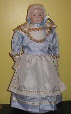 ~Vintage Shaker Collectible Porcelain Doll Iridescent Bonnet D.S.C.S 1994~