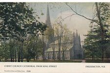 FREDERICTON NB – Christ Church Cathedral from King Street