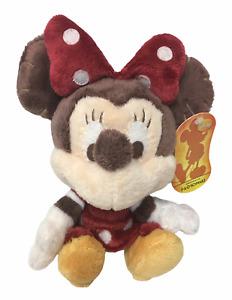 "Disney FAO Schwarz Minnie Mouse Light Plush Soft Stuffed Doll Toy NWT 8"" RARE"